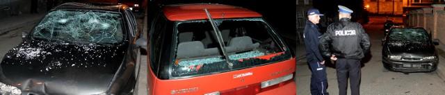Zniszczone auta.