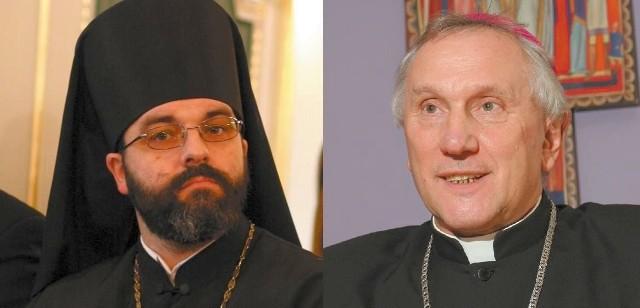 + Jakub, Prawosławny Arcybiskup Białostocki i Gdański i Abp Edward Ozorowski, Metropolita Białostocki