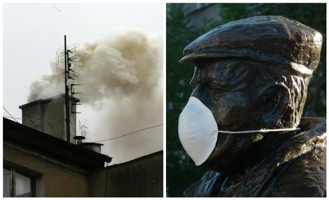 Przekroczenia norm dobowych pyłów PM 10 jest odczuwalne przez mieszkańców... dlatego niektórzy zakładają maski rozdawane przez Poznański Alarm Smogowy