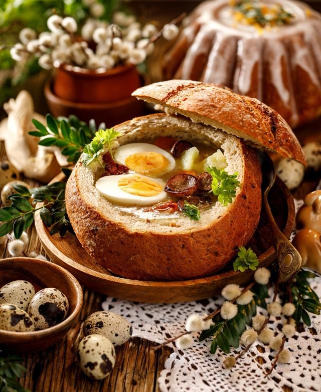 Wielkanoc:  żurek z jajkiem