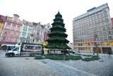 Ostatni dzień z choinką Rynku. Rozpoczął się demontaż świątecznych iluminacji we Wrocławiu (ZDJĘCIA)