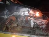 Trzy osobówki zderzyły się pod Otmuchowem. Jedna osoba została przewieziona do szpitala