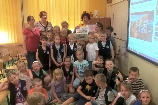 Nasza dziennikarka Julita Januszkiewicz spotkała się z uczniami Szkoły Podstawowej nr 2 w Łapach