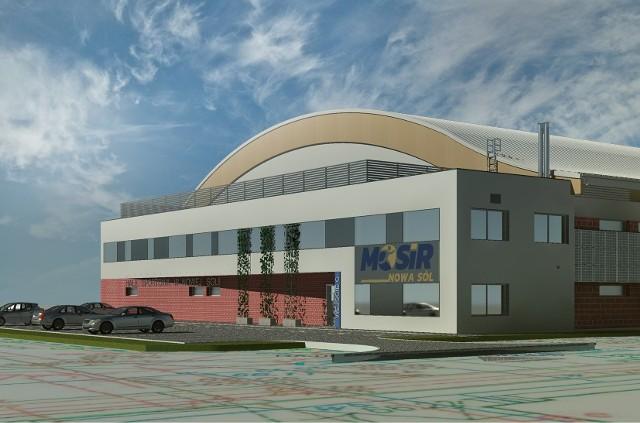 Wizualizacja hali widowiskowo-sportowej w Nowej Soli