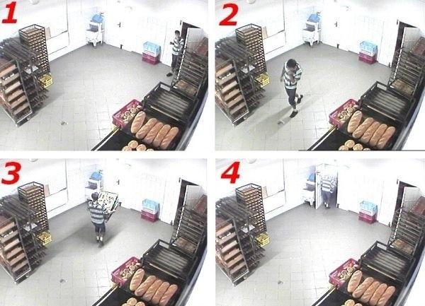 Właściciel firmy policzył, że stracił przez złodzieja głodomora około 500 złotych.