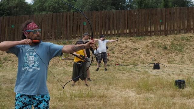 W koszalińskim Parku Robin Hooda znowu pojawili się łucznicy