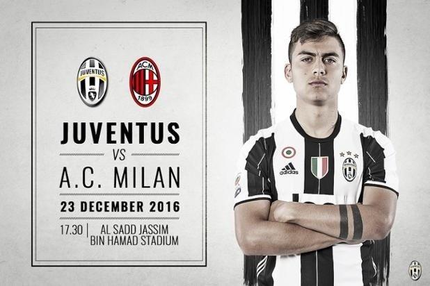 591e84dd9 W meczu o to trofeum zmierzą się Juventus Turyn i AC Milan. Co ciekawe,  spotkanie to rozegrane zostanie w... stolicy Kataru - Doha.