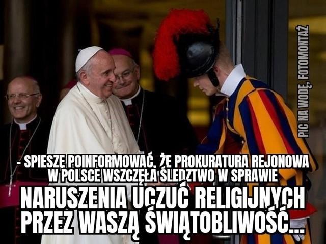 Słowa papieża Franciszka obraziły uczucia religijne Polaków? Zobacz memy internautów