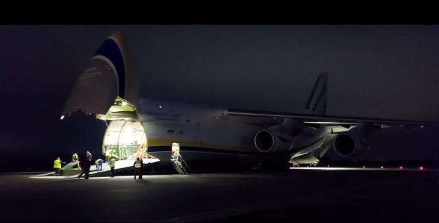 Antonow An-124 - jeden z największych samolotów świata lądował na Krzesinach