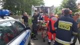 Samolot spadł w Łodzi. Ciężko ranny pilot trafił do szpitala [ZDJĘCIA, FILM]
