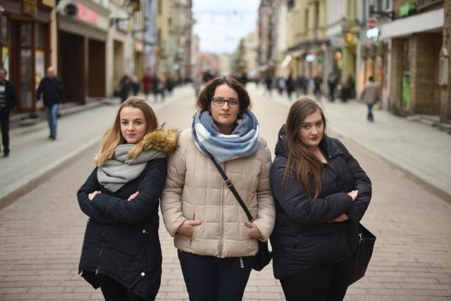 Karolina Drożdzińska, Kamila Lewandowska i Agata Błaszczyk - studentki pedagogiki, które przeprowadziły eksperyment