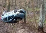 Na S11 niedaleko Chodzieży dachowało auto. W Wigilię doszło tu do podobnego zdarzenia