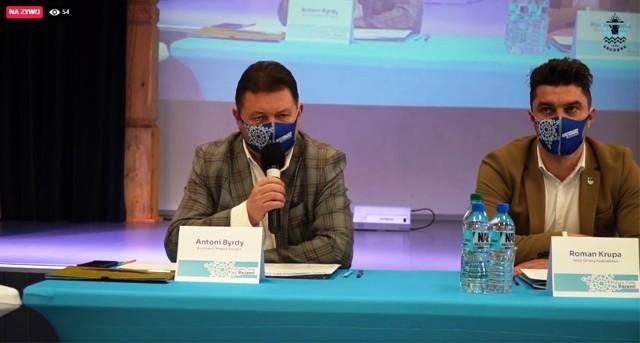 Konferencja z udziałem samorządowców gmin górskich i przedsiębiorców miała miejsce w Szczyrkowskim Centrum Kultury i była transmitowana on-line,