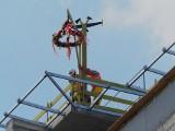 Nowa część szpitala przy ul. Staszica w Lublinie już w stanie surowym zamkniętym. Częścią obiektu lądowisko dla helikopterów na dachu