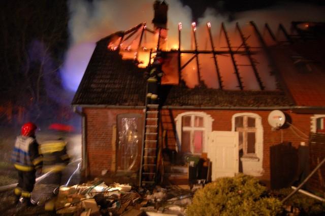 Akcja strażaków w Czarnoborze,