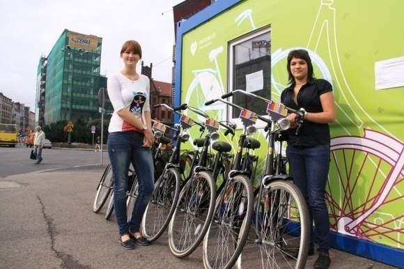 Wypożyczalnia rowerów działa m.in. w Katowicach. (fot. MM Silesia)