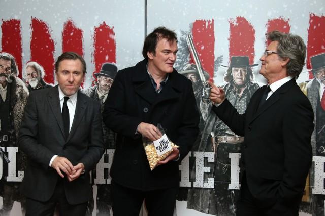 """""""Nienawistna ósemka"""" - Tarantino i odtwórcy głównych ról podczas premiery"""