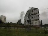 Czarny dym koło Stadionu Wrocław. Co tam się dzieje?