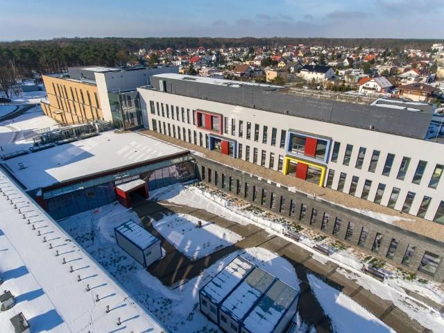 Nowy kompleks szpitalny na Bielanach z lotu ptaka