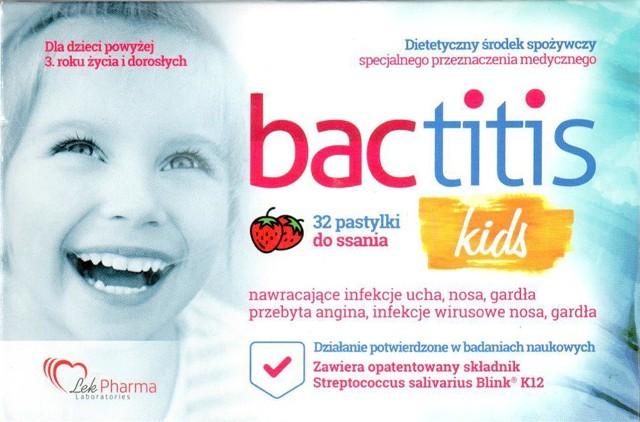 """Produkt – """"Bactitis kids"""" – dietetyczny środek spożywczy specjalnego przeznaczenia medycznego - najlepiej spożyć przed końcem – 12.2020. Tę partię zakwestionował Narodowy Instytut Leków."""