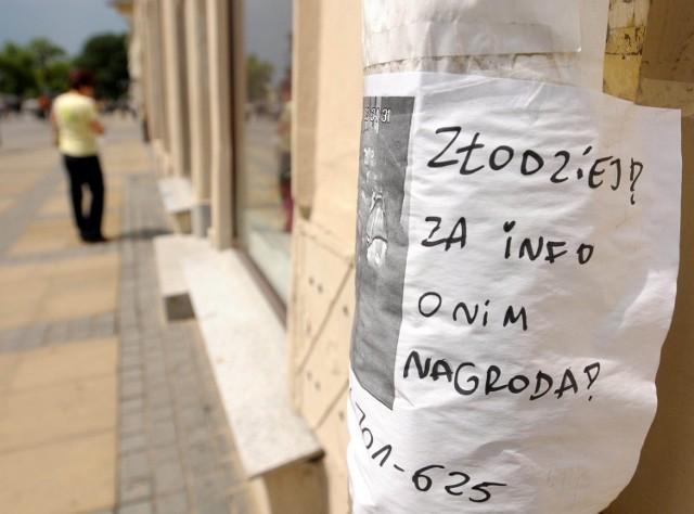 Ogłoszenia rozklejono w całym Lublinie
