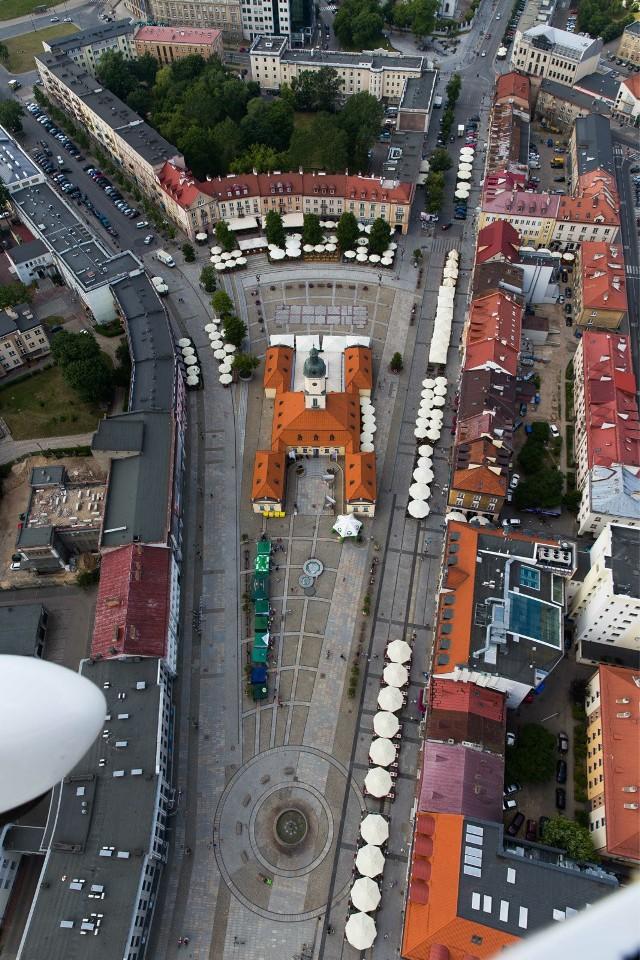 Rynek Kościuszki z lotu ptaka