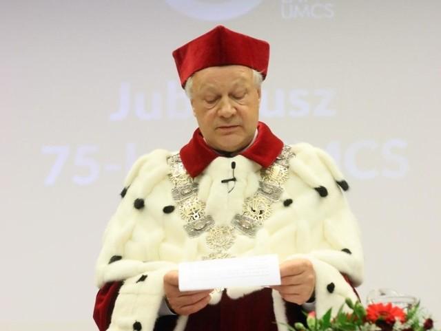 Prof. Stanisław Michałowski, rektor UMCS w Lublinie