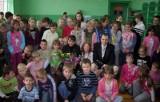 Spotkanie z Katarzyną Campbell w szkole w Trzebiczu