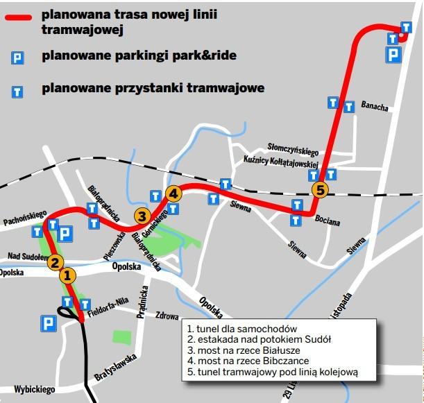 Czas Na Kolejna Duza Inwestycje Tramwajowa W Krakowie Mapa
