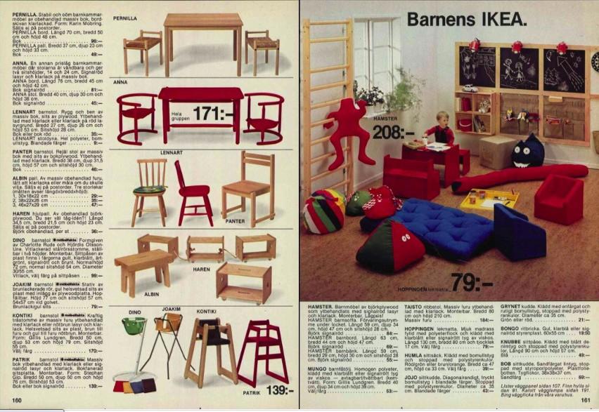 Katalog z 1979, oferta dla dzieci i krzesełka Anna
