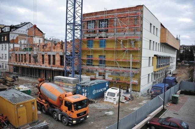 Coraz bardziej widać zmiany na rozbudowie Białostockiego Centrum Onkologii