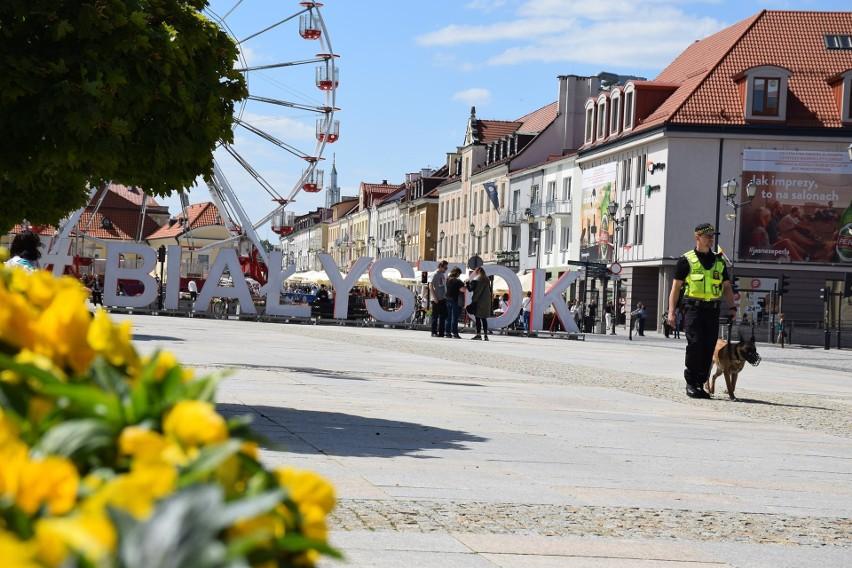 Pijany rowerzysta zatrzymany w Białymstoku. Monitoring...
