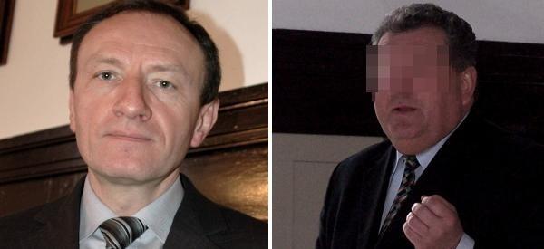 Burmistrz Sylwester Lewicki (z lewej) jest oskarżany przez byłego burmistrza Edwarda F. o wyłudzanie pieniędzy publicznych.