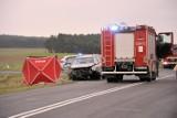 Śmiertelny wypadek na drodze Głogów - Orsk. Jedna osoba nie żyje, 4 są ranne [ZDJĘCIA]