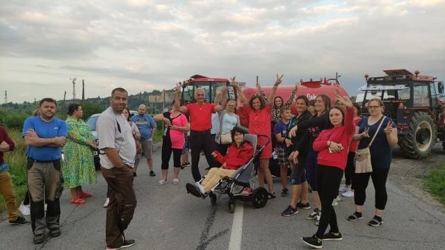 Protest Słowaków na przejściu granicznych w Suchej Horze