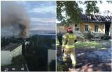 Pożar domu na Pomorzanach. Słup dymu był widoczny z daleka. ZDJĘCIA