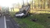 Poważny wypadek w okolicach Sątop. Jedno z aut się zapaliło! [ZDJĘCIA]