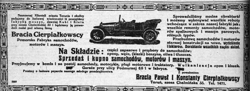 Reklama przedsiębiorstwa braci Cierpiałkowskich, która...