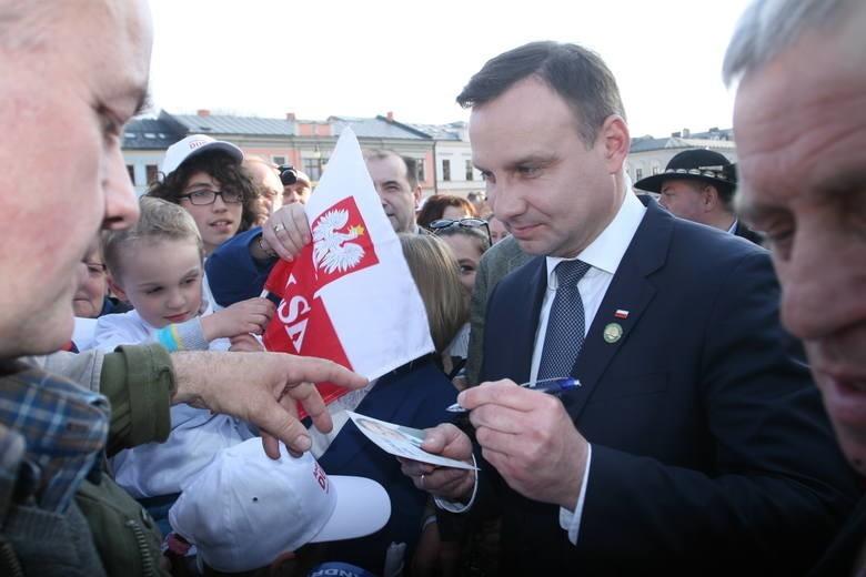 Andrzej Duda podczas kampanii wyborczej odwiedził m.in. Nowy Sącz