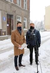 Konferencja i wizja lokalna w lokalu przy ul. Na Stoku w Gdańsku. Gdańskie Nieruchomości odpowiadają na krytykę radnych PiS
