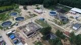 Budowa oczyszczalni ścieków w Lublińcu z lotu ptaka. Realizacja projektu pochłonie 51 mln zł. Zobaczcie zdjęcia