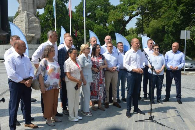 Politycy Koalicji Obywatelskiej w Opolu.