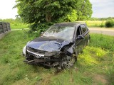 Wypadek w Magnuszewie (powiat makowski, gmina Szelków). Kierowca był kompletnie pijany