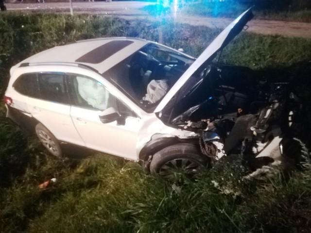 Bargłów Dworny. Sprawca wypadku na DK 61 sam zgłosił się na policję