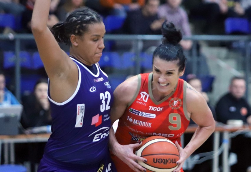 Ewelina Gala zdobyła najwięcej punktów dla Grot TomiQ Pabianice w meczu z Wisłą Kraków