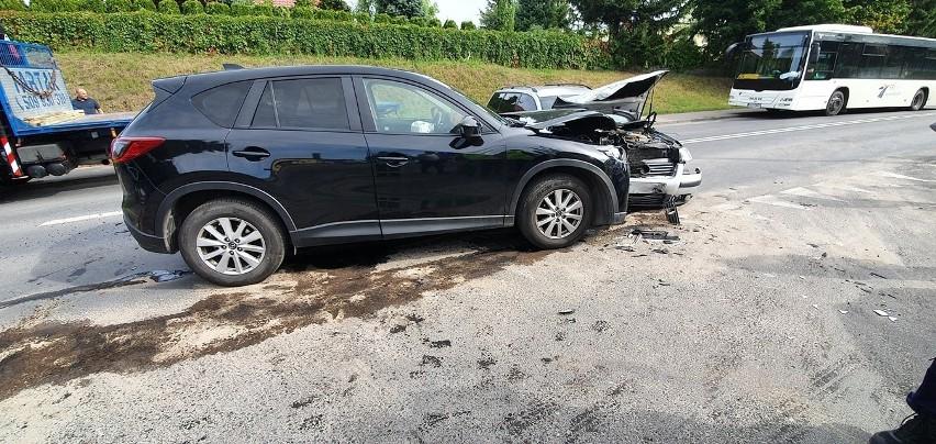 Na ul. Szosa Kotomierska w Koronowie doszło do zderzenia...