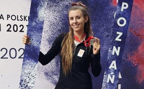 Karolina Młodawska z Kieleckiego Klubu Lekkoatletycznego została wicemistrzynią Polski w trójskoku.