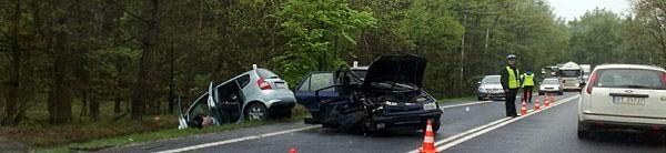 Wypadek na obwodnicy Głogowa.