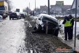 Czyżew. Wypadek zablokował dk 63. Dwie osoby trafiły do szpitala