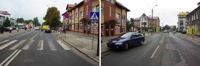 Prowadzona przez 60-letniego kierowcę toyota potrąciła na przejściu dla pieszych dwie osoby. Mężczyzna tłumaczył później, że nie zauważył pieszych.